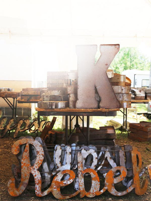 Brimfield Metal Letters