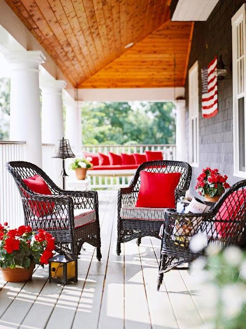 Outdoor Red Patio Furniture