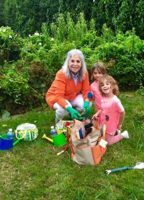 SZG Gardening with her Grandchildren