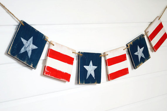 Wood USA Banner Etsy